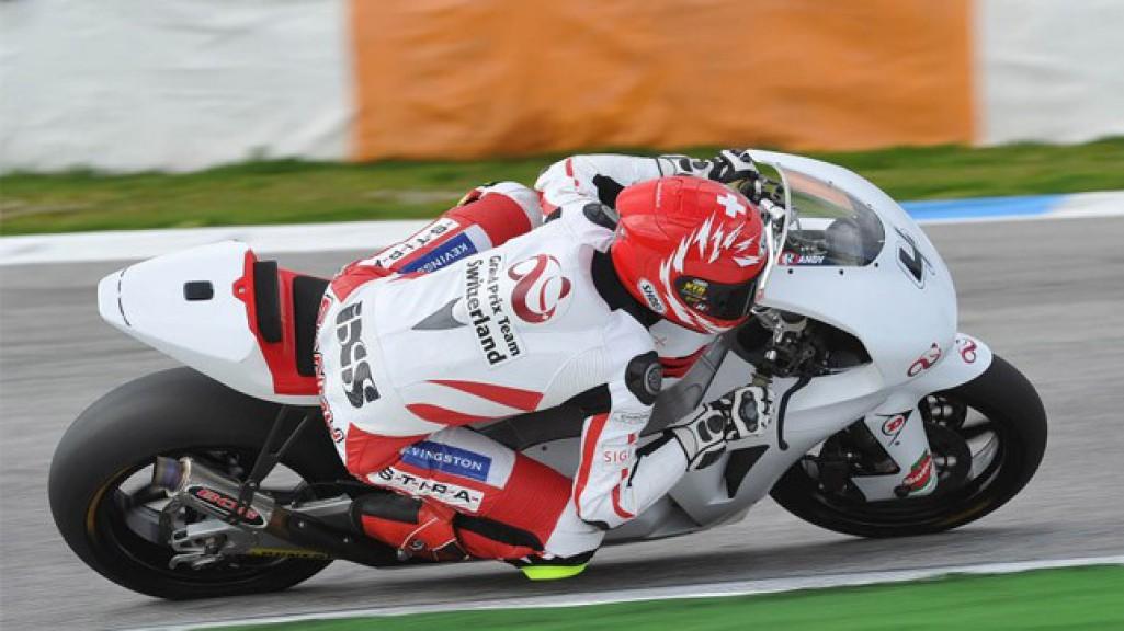 Randy Krummenacher in action at the Estoril test