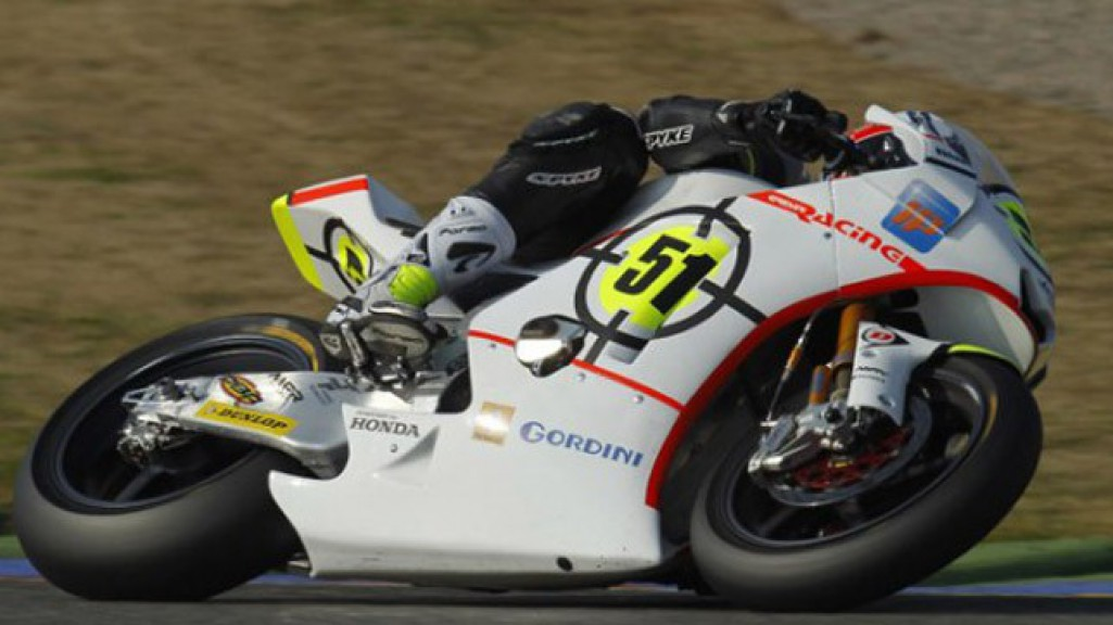 Michele Pirro in action at the Valencia test