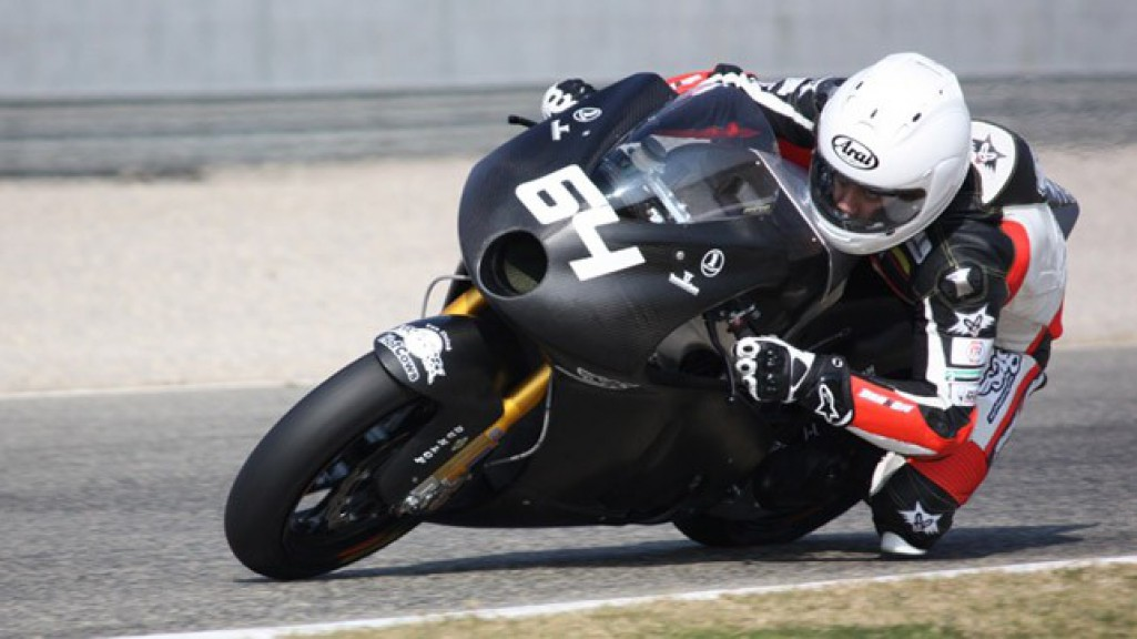 Santiago Hernandez in action at the Valencia test