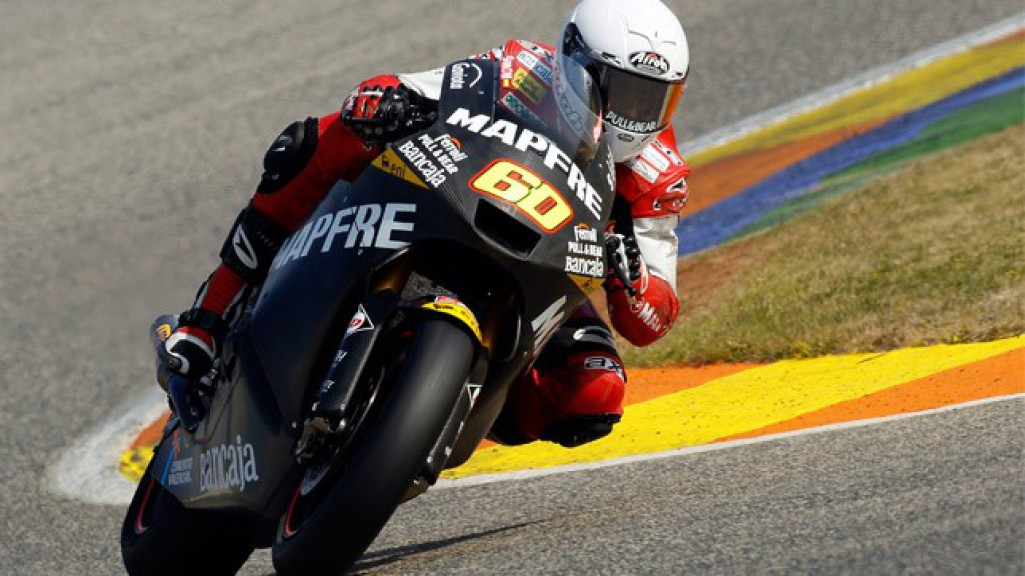 julian Simon in action at the Valencia test