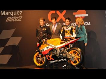 Márquez desvela su moto y presenta a su equipo en Barcelona