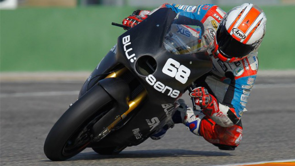 Yonny Hernandez in action at the Valencia test