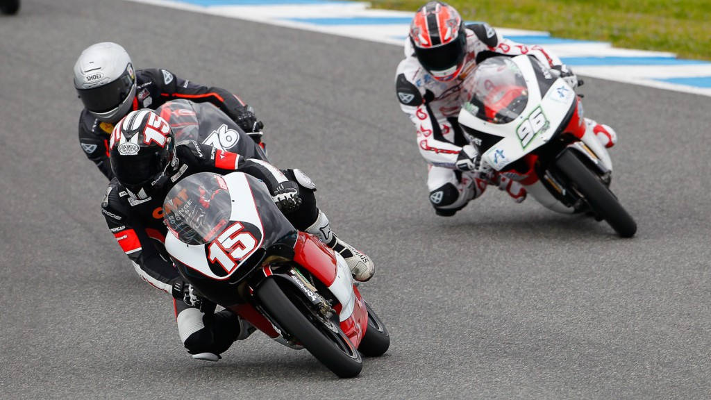 125cc Group in action in Jerez test