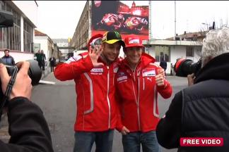 Ducati MotoGP Night - Rossi and Hayden arrive at Ducati