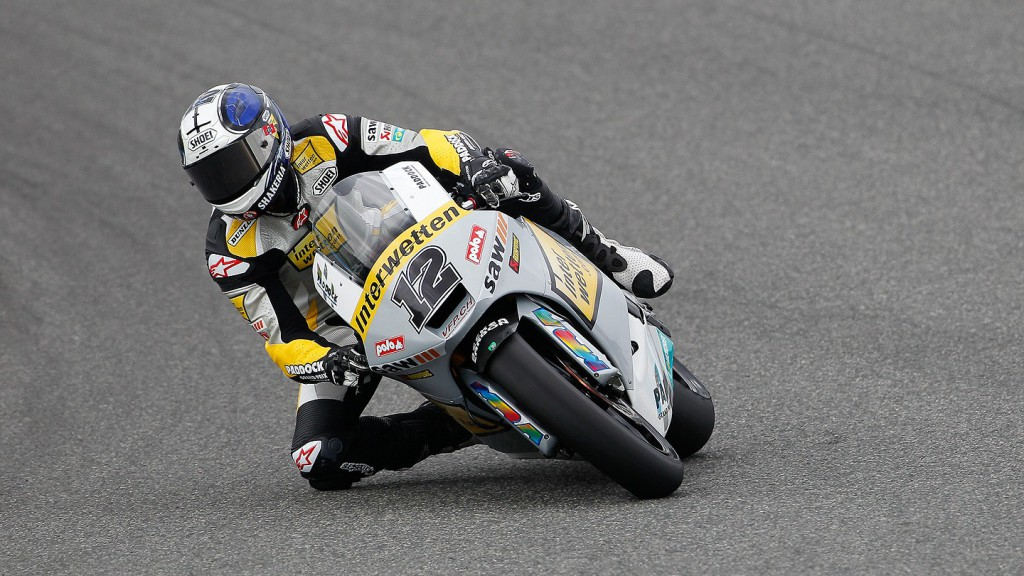 Thomas Luthi in action in Jerez test