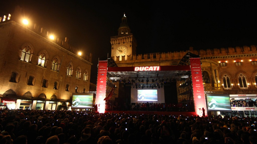 Bologna hosts the Ducati MotoGP Night