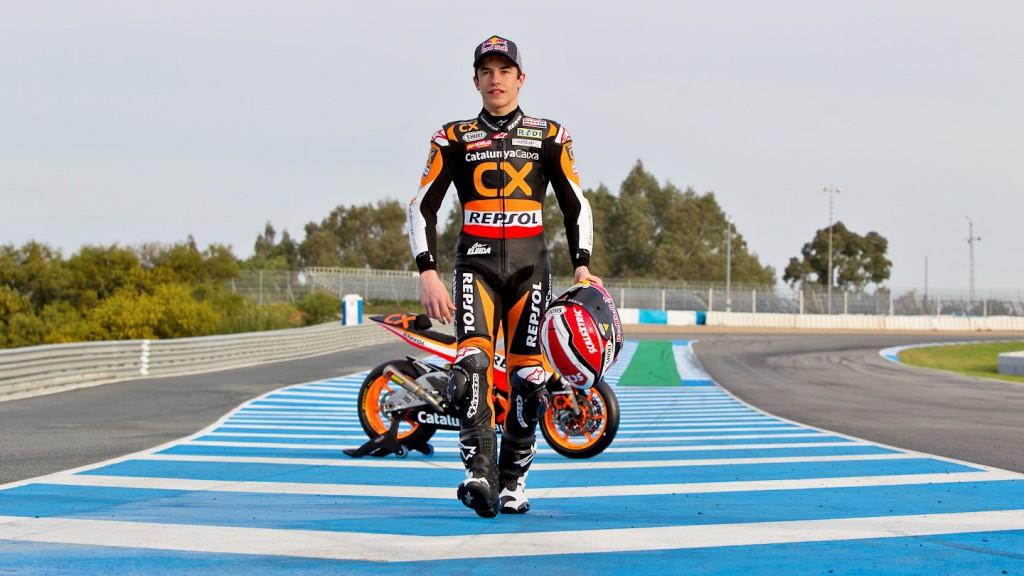 Catalunya Caixa´s Marc Marquez in the Jerez test