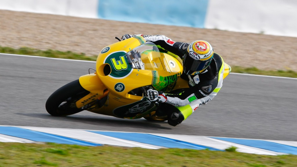 Simone Corsi in action in the Jerez test
