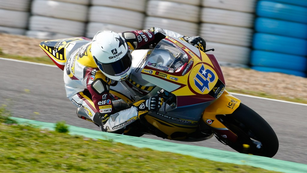 Scott Redding in action in Jerez test