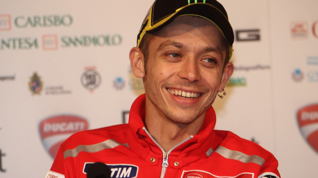 Valentino Rossi at the Ducati MotoGP night