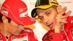 Hayden and Rossi  at the Ducati MotoGP night