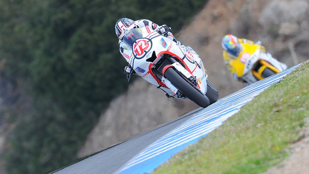 Yuki Takahashi in action in Jerez test