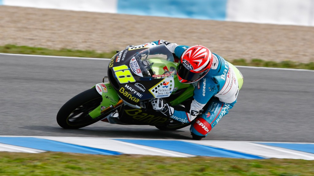 Nico Terol in action in Jerez test