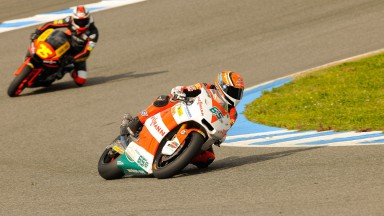 Stefan Bradl in action in Jerez test