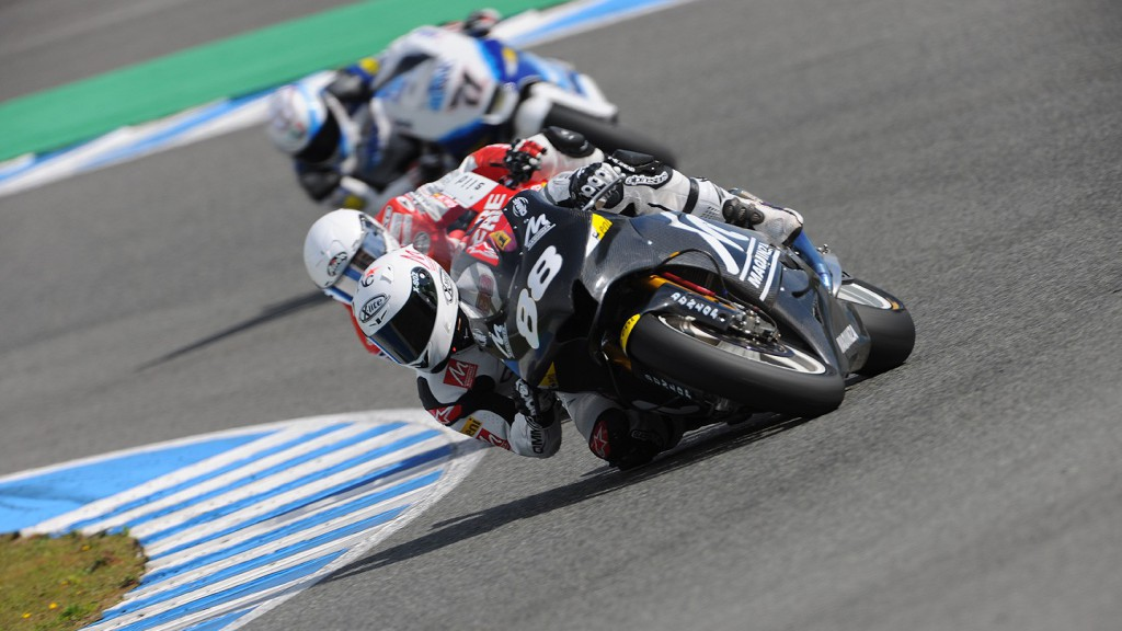 Ricky Cardús in action in the Jerez test