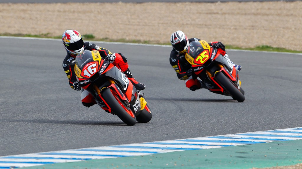 Forward´s Racing Cluzel and Baldolini in action in Jerez test