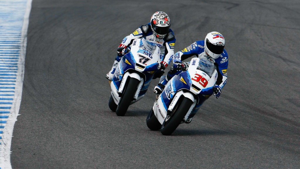 Italtrans´Corti an Pietri in action in Jerez test