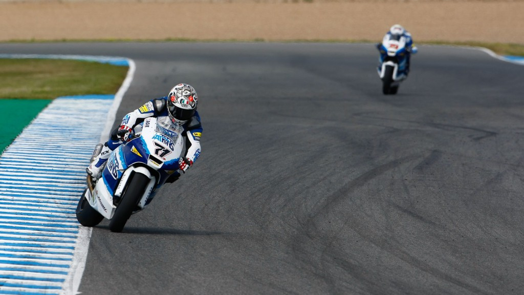 Claudio Corti in action in Jerez test