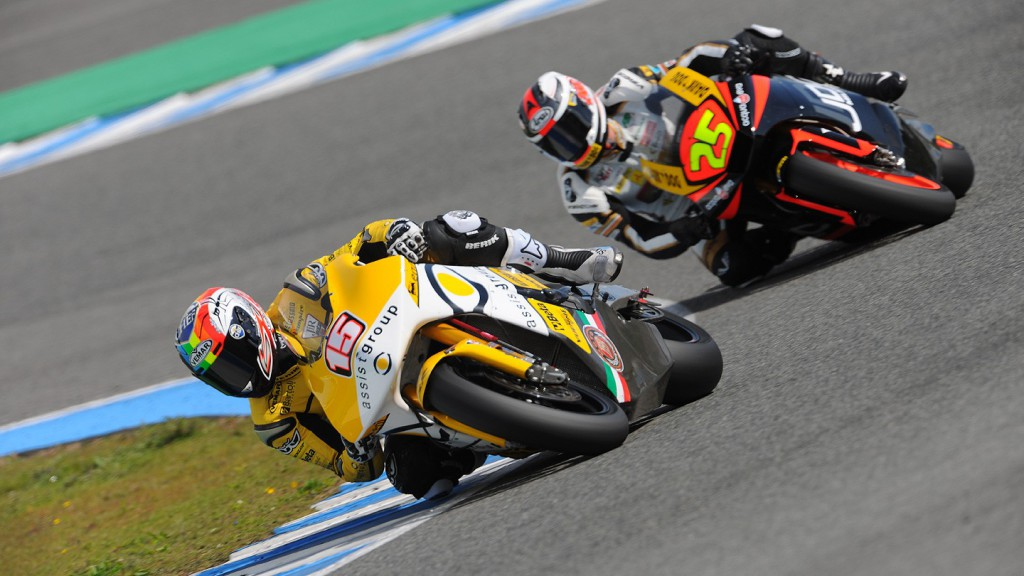 De Angelis and Baldolini in action in the Jerez test