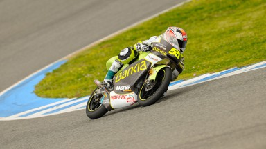 Hector Faubel in action in Jerez test