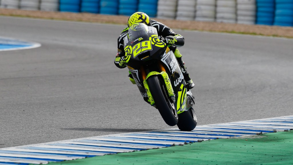 Andrea Iannone in action in Jerez test