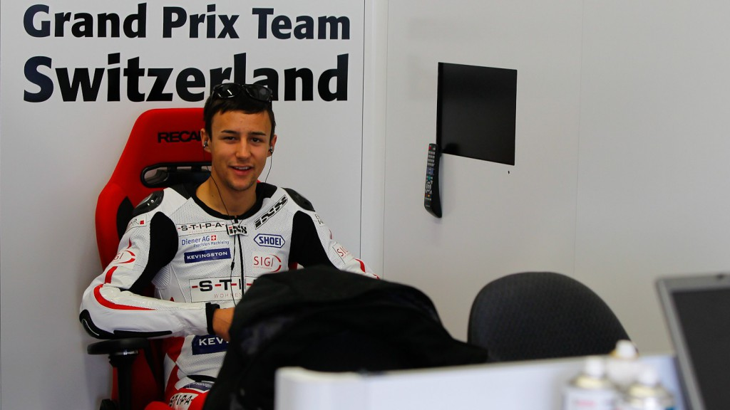 Randy Krummenacher in the GP Team Switzerland Kiefer garage