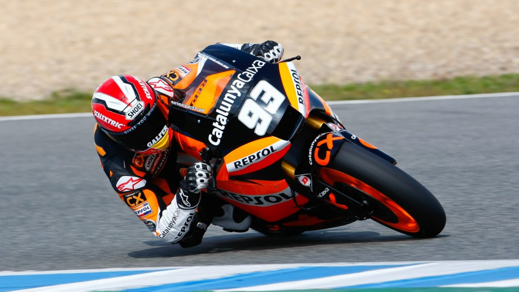 Marc Marquez in action in the Jerez test