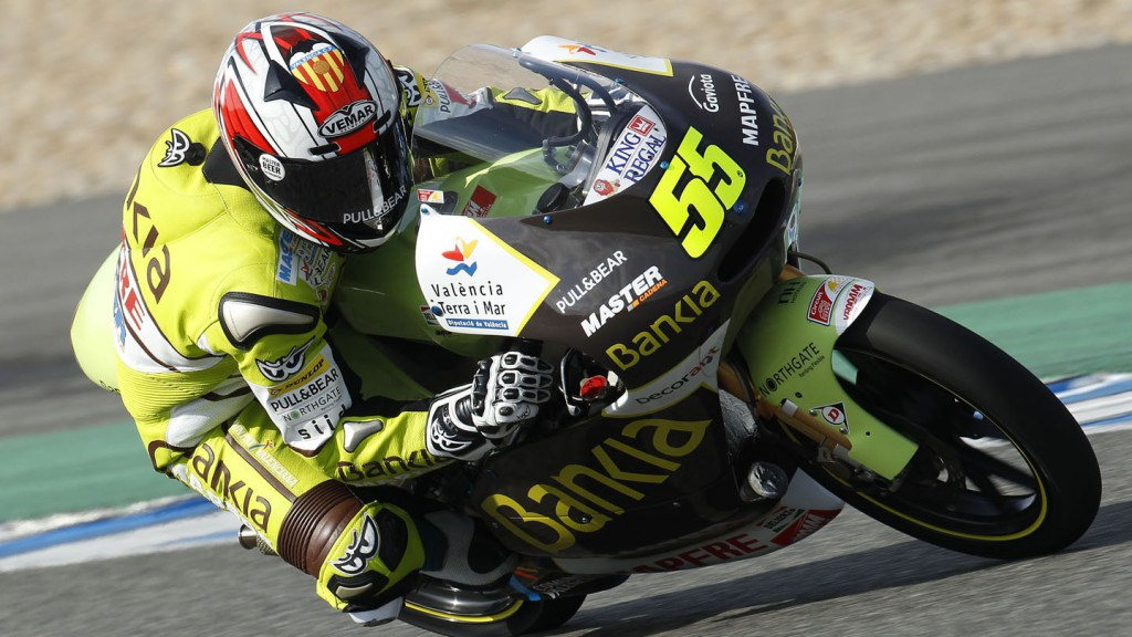Hector Faubel on track during the Jerez test