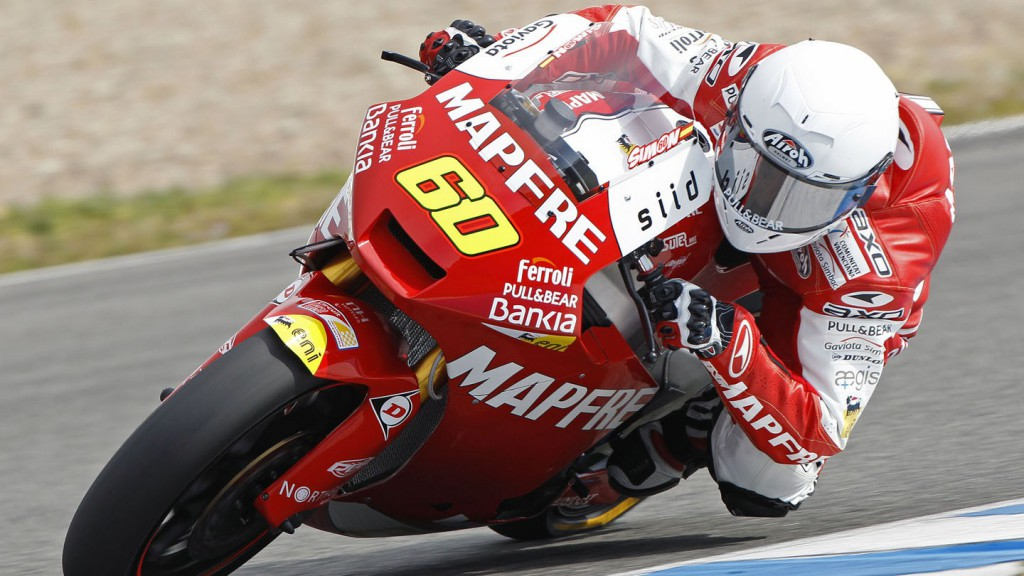 Julian Simon on track at Jerez