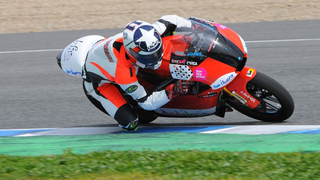 Miguel Oliveira in action at the Jerez test