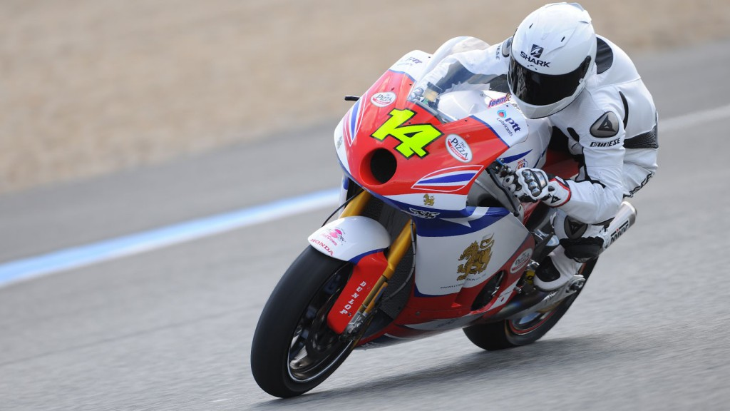 Ratthapark Wilairot in action at the Jerez test