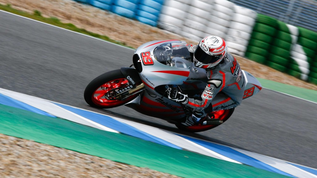 Danny Webb in action in the Jerez test