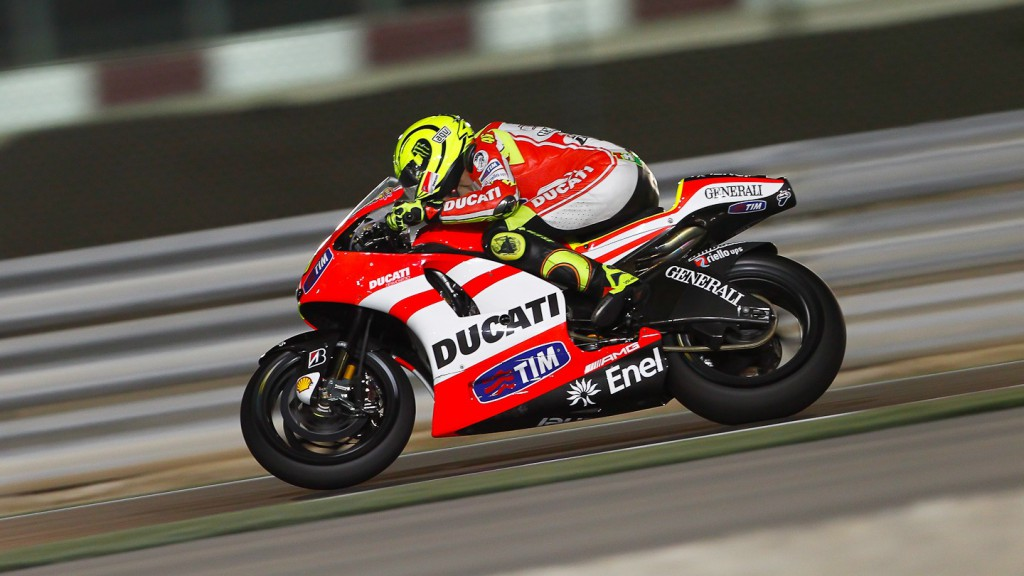 Valentino Rossi, Ducati Team, Qatar Test