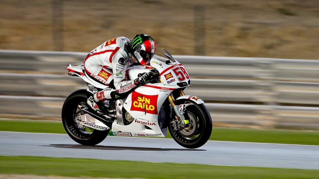 Marco Simoncelli, San Carlo Honda Gresini, Qatar Test