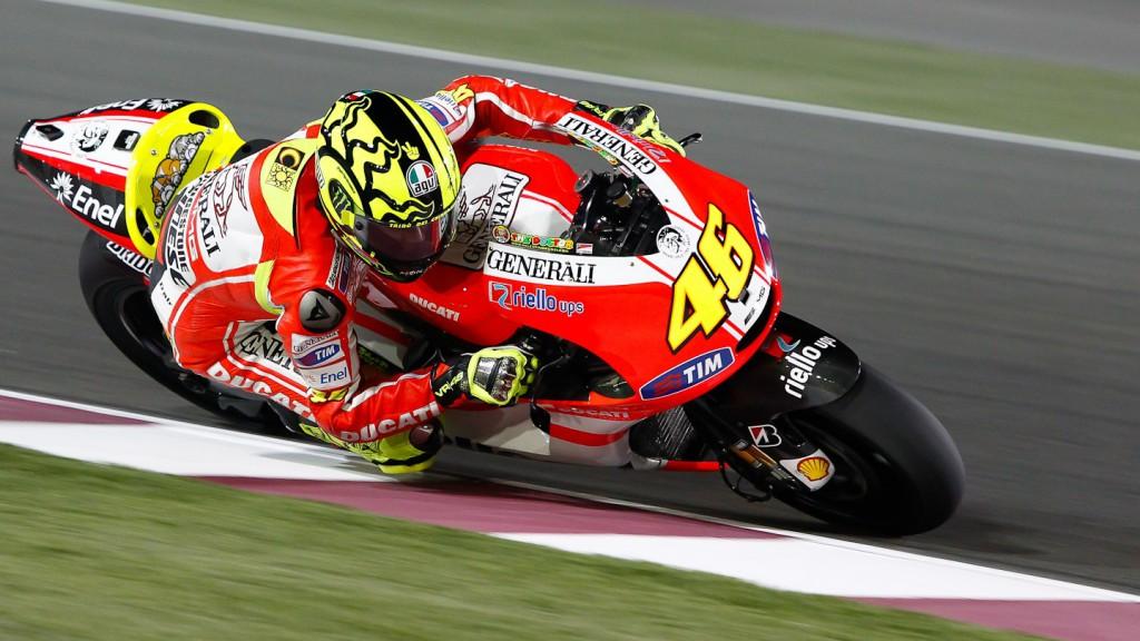 Valentino Rossi, Ducati Team, Qatar Test