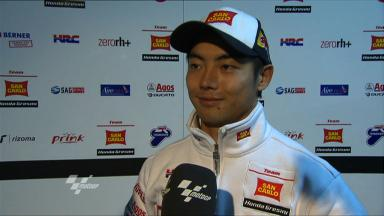 Aoyama reviews first session in Qatar