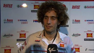 Simoncelli happy with day one