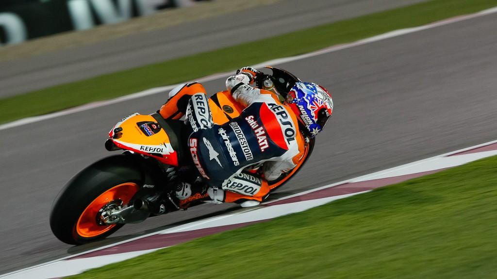 Casey Stoner, Repsol Honda, Qatar FP1