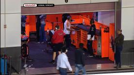 Casey Stoner (Repsol Honda) set the quickest time at the Losail International Circuit on Friday in much windier conditions at the Commercialbank Grand Prix of Qatar.