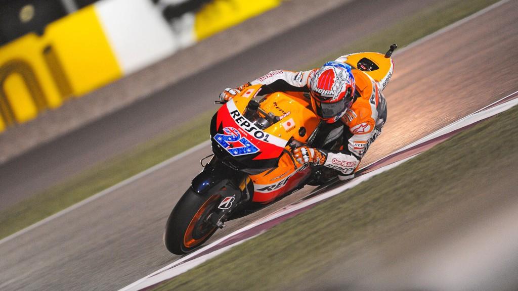 Casey Stoner, Repsol Honda, Qatar FP2