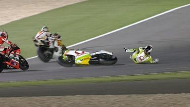 Qatar 2011 - MotoGP - Race - Action - Randy de Puniet - Crash