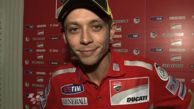 Rossi on Ducati debut