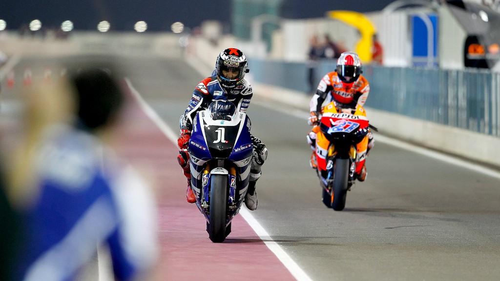 Lorenzo, Stoner, Qatar Race