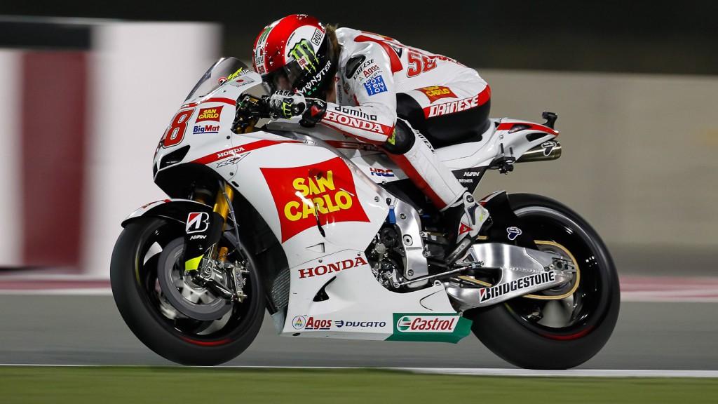Marco Simoncelli, San Carlo Honda Gresini, Qatar Race