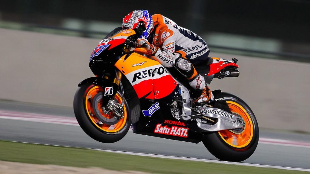 Casey Stoner, Repsol Honda, Qatar Warm Up