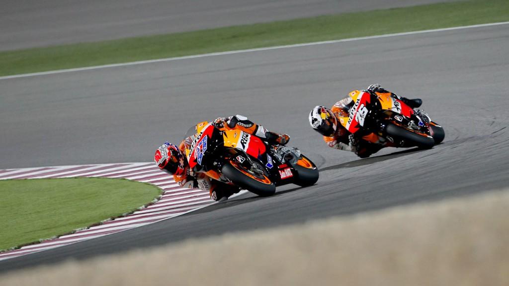 Stoner, Pedrosa, Repsol Honda, Qatar Race