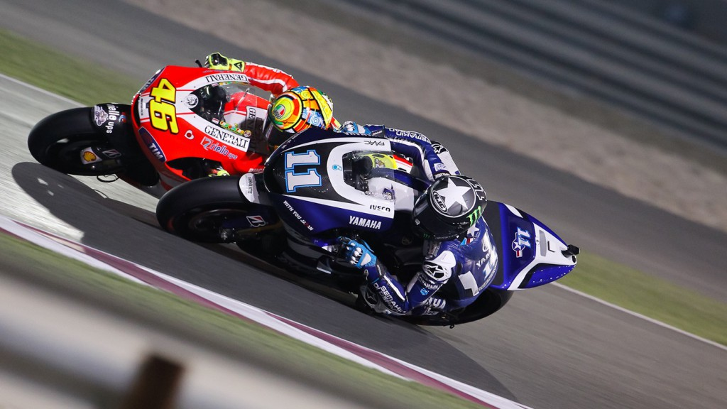 Spies, Rossi, Qatar Race