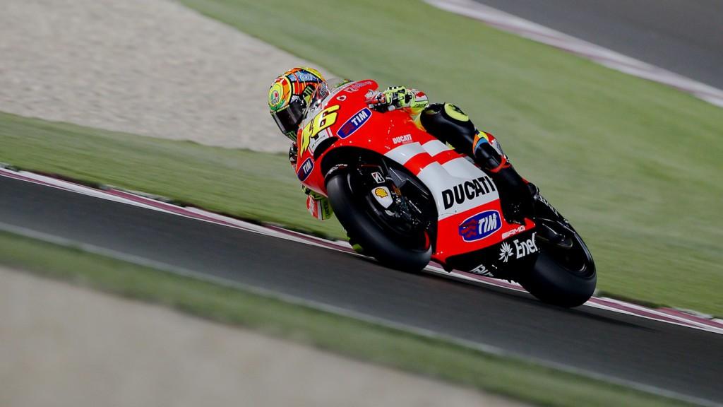 Valentino Rossi, Ducati Team, Qatar Race