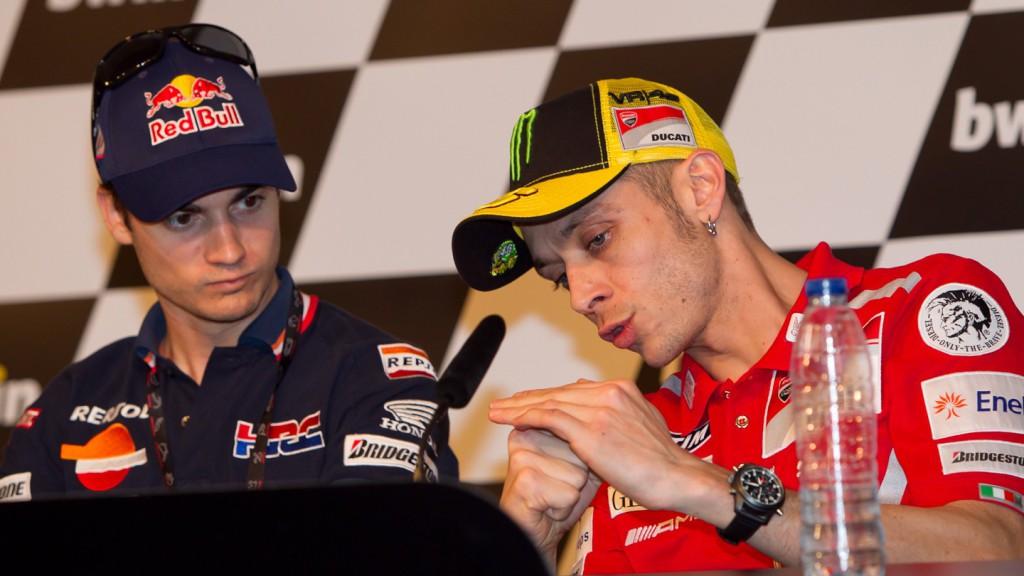 Valentino Rossi, Dani Pedrosa, Ducati Team, Repsol Honda Team
