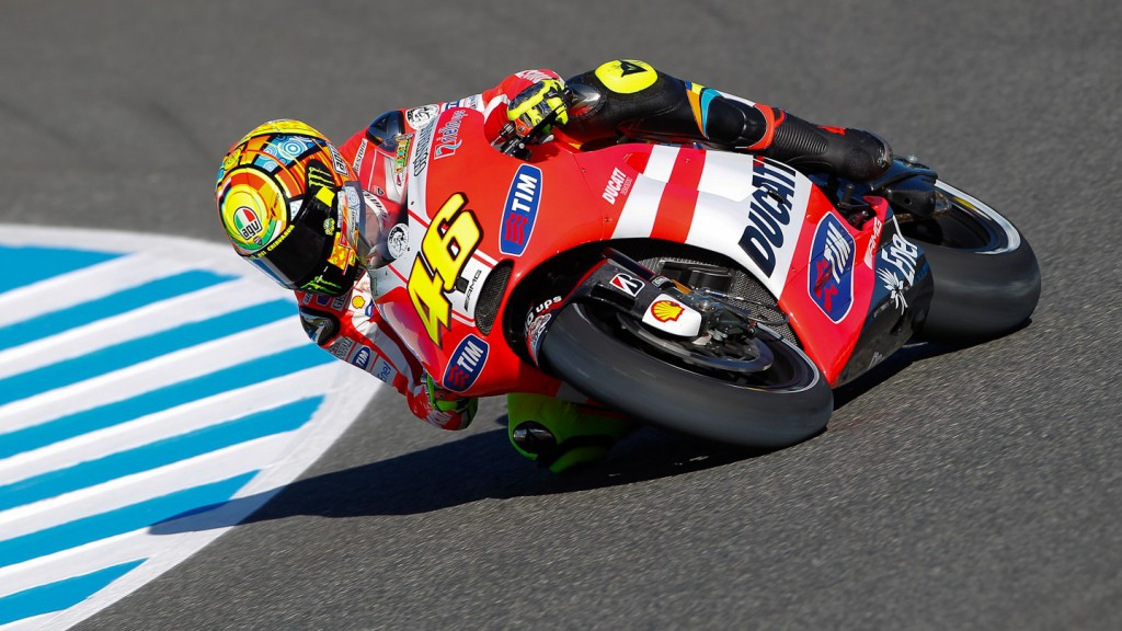 Valentino Rossi, Ducati Team, Jerez FP1